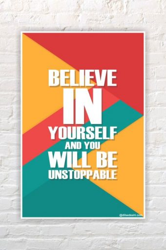 Believe in yourself Poster mockup