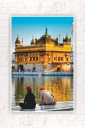 Golden Temple Wall Poster mockup
