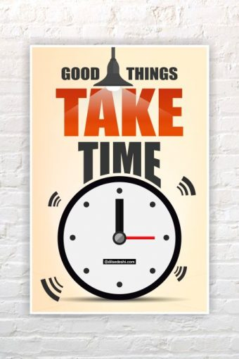 Good Things Wall Poster mockup