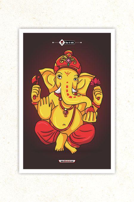 Lord Ganesha Wall Poster mockup