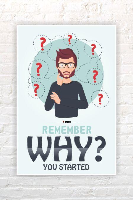 Motivational English Wall Poster mockup