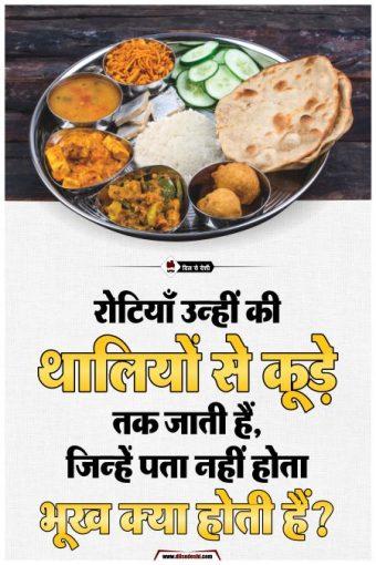 No Food Waste Hindi Poster
