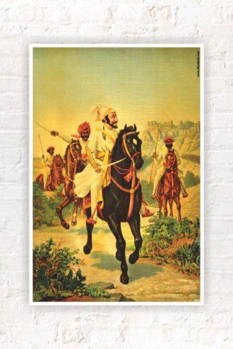 Shivaji Maharaj Wall Poster mockup