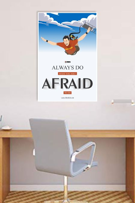 Afraid To Do Wall Poster mockup