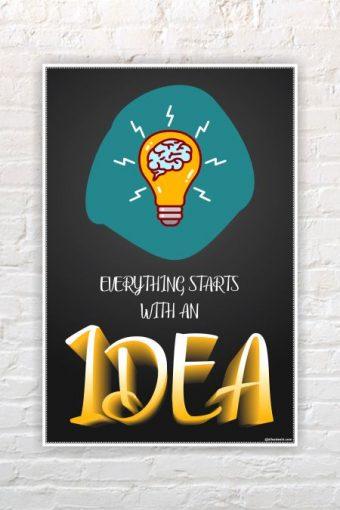 Inspirational Wall Poster mockup