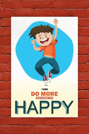 Makes You Happy Poster mockup