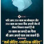 No Plastic Wall Poster