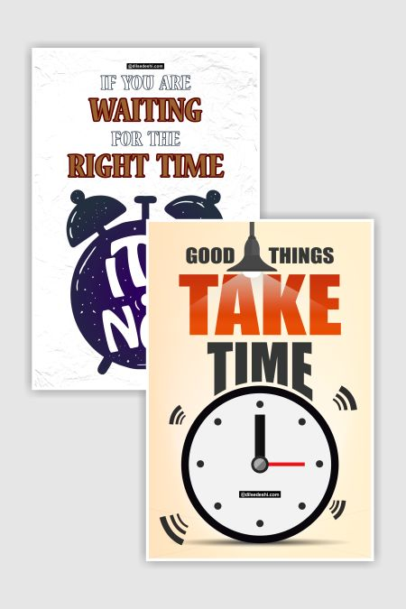 Time Quotes Poster Combo