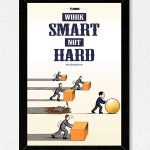 Motivational Smart Work Wall Frame