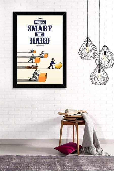 Motivational Smart Work Wall Frame mockup