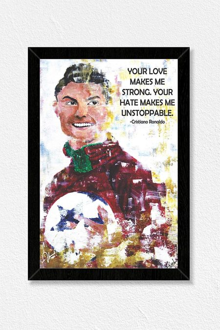 Ronaldo Quote Wall Frame