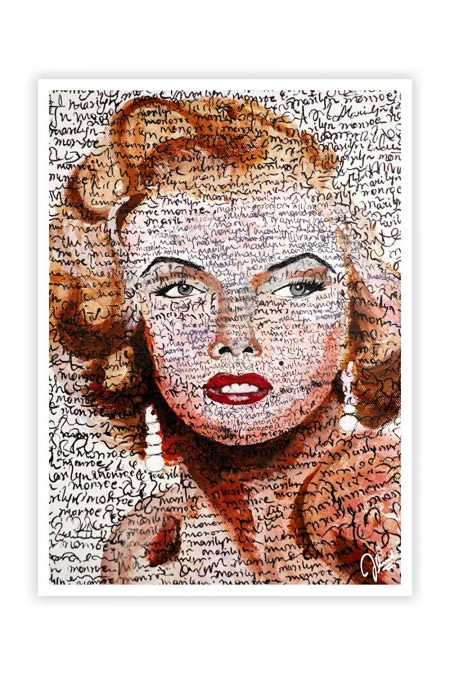 Abstract Marilyn Monoroe Print Wall Decor Poster