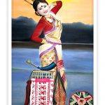 Beautiful Assamese Lady Poster Print