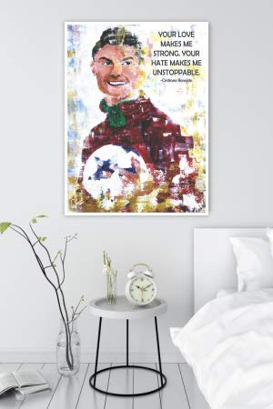 Cristiano Ronaldo Inspirational Quotes Wall Poster mockup 2