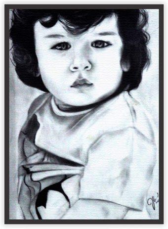 Handmade Taimur Ali Khan Sketch Print Wall Decor Poster