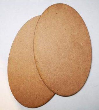MDF Wood Oval Shape Art Boards [8 x 6 Inch]