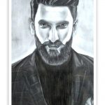 Ranveer Singh Sketch Wall Decor Poster