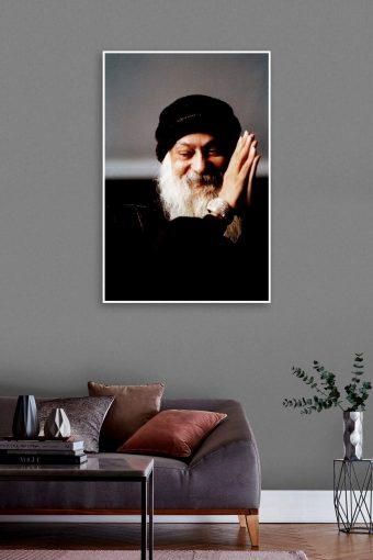 Osho Author of Courage Wall Poster mockup