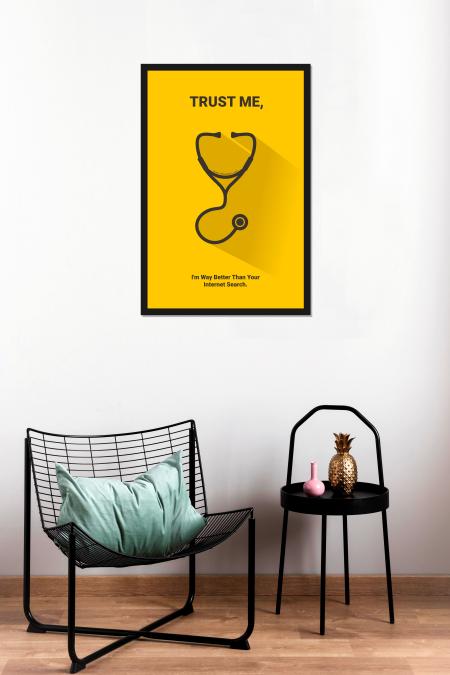 Doctor Poster frame mockup