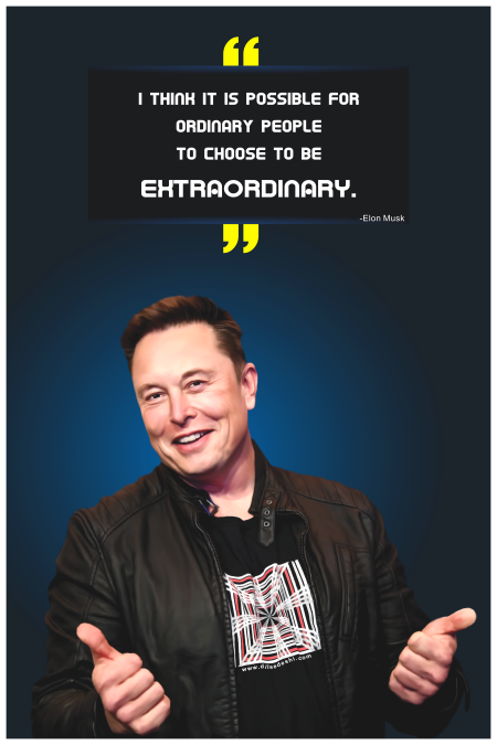 Elon Musk Poster