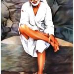 sai baba (white) wall poster (1)